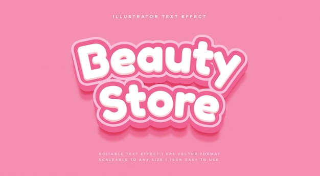 Beauty pink rounded text style font effect