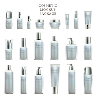 Beauty product bottles and containers collection