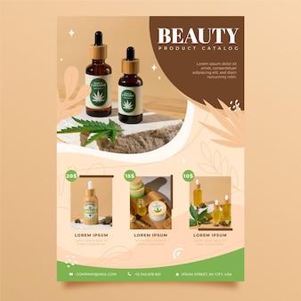 Catalogo di prodotti di bellezza per diversi cosmetici