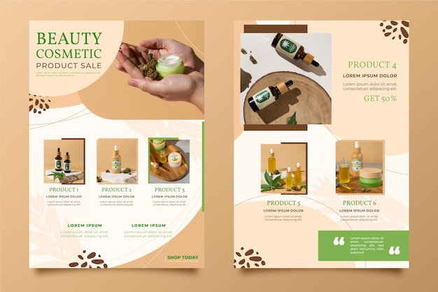 Beauty product catalog with photo
