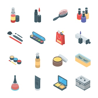 Beauty products and cosmetics icons