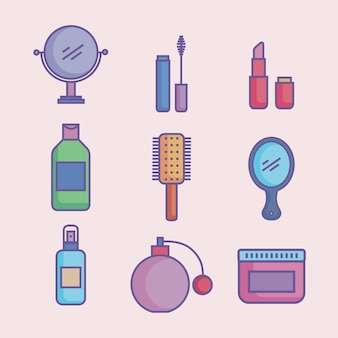 Beauty products icons