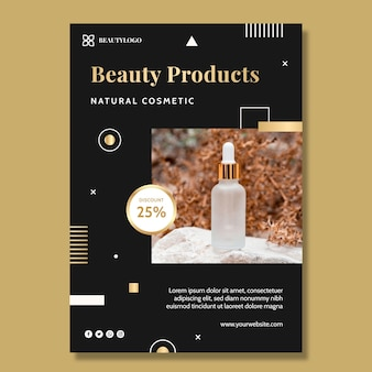 Beauty products vertical flyer template