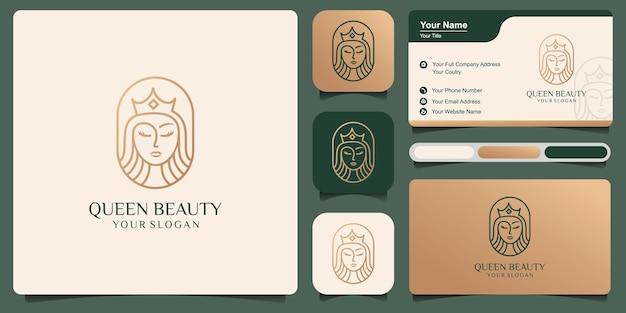 美人コンテストのロゴデザインテンプレートの美人コンテストの豪華なロゴデザイン