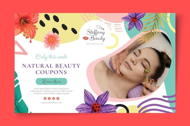 Beauty salon banner template