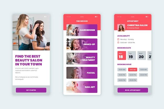 Beauty salon booking app