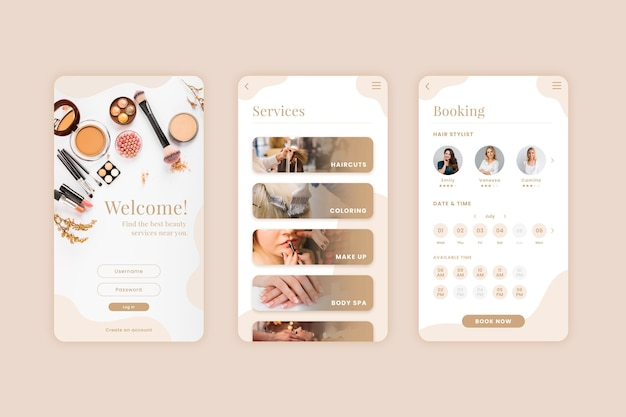 Beauty salon booking app