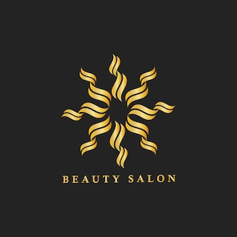 Beauty salon branding logo illustration