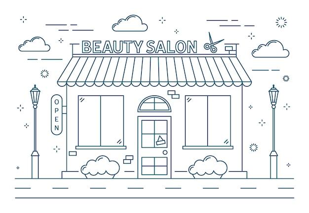 Beauty salon building.
