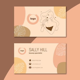 Beauty salon business card template pack