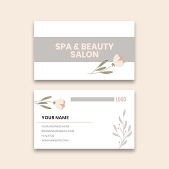 Beauty salon business card template
