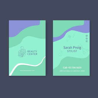 Beauty salon double sided business card