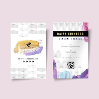 Beauty salon double-sided business card