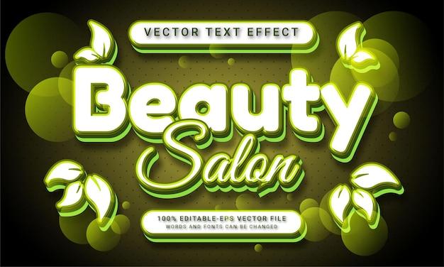 Редактируемый текстовый эффект салона красоты с модной темой