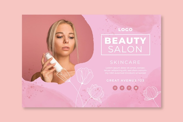 Beauty salon horizontal banner
