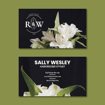 Beauty salon horizontal business card