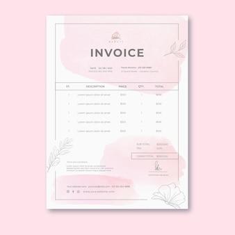 Beauty salon invoice template