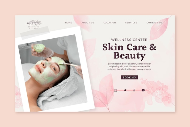 Beauty salon landing page
