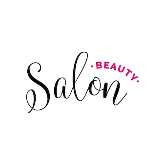 Beauty salon lettering for logo