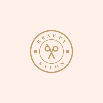 Beauty salon logo design vector