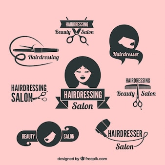 Beauty salon logos