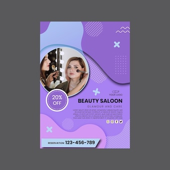 Beauty salon poster print template
