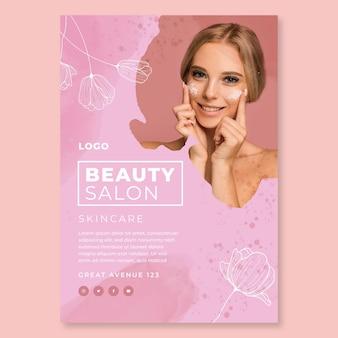 Modello di poster di salone di bellezza