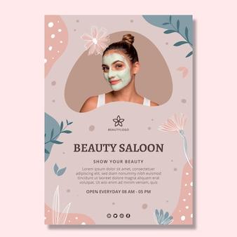Beauty salon poster template