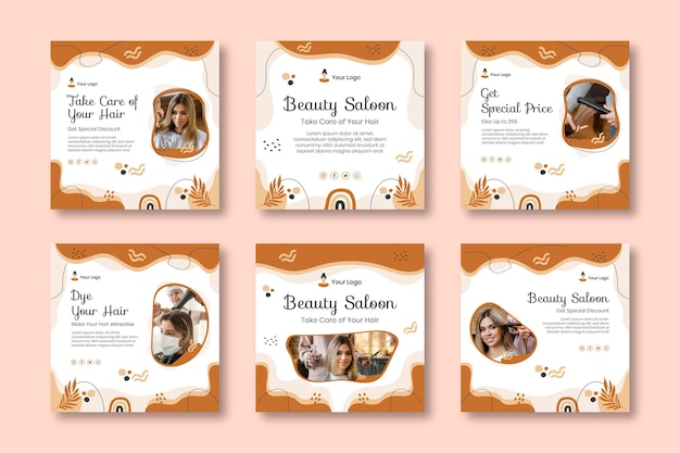 Beauty salon posts template