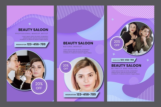 Beauty salon social media stories template