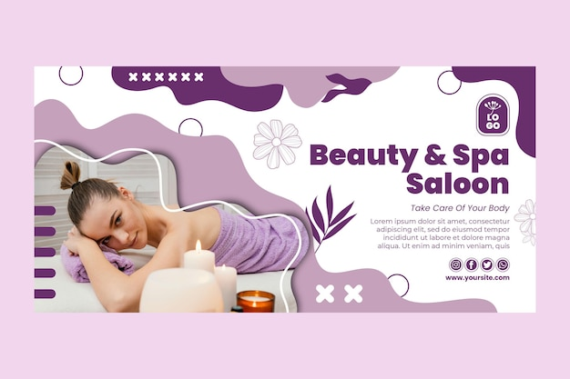 Modello di banner di salone di bellezza e spa