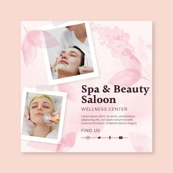 Beauty salon square flyer
