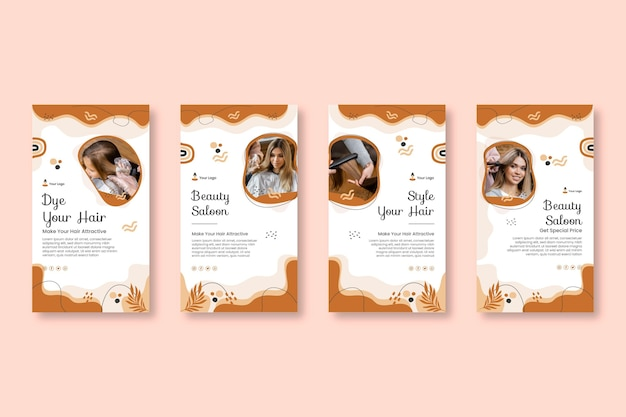 Beauty salon stories template