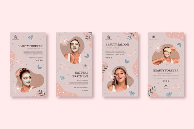 Beauty salon stories template