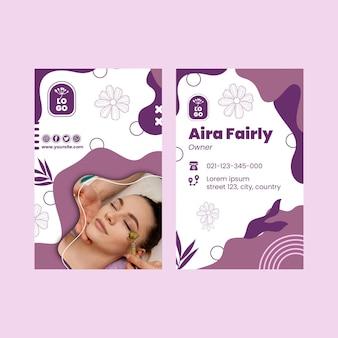 Beauty salon vertical business card template
