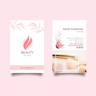 Beauty salon vertical business card