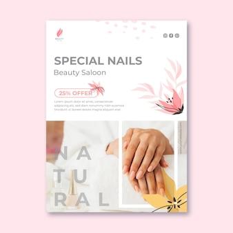 Beauty salon vertical flyer template