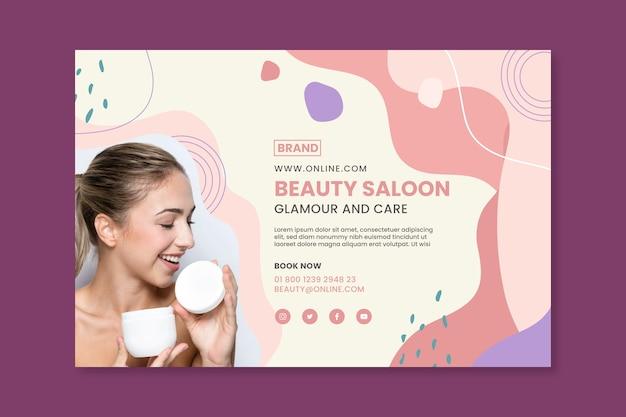 Beauty saloon banner template