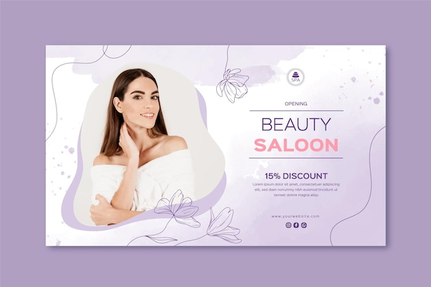 Beauty saloon banner template