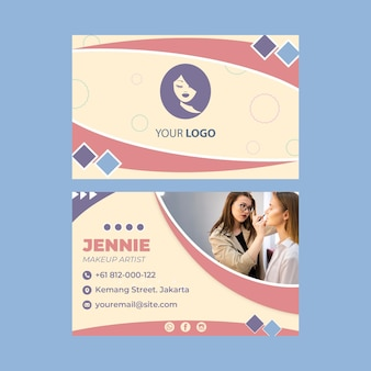 Beauty saloon double-sided business card