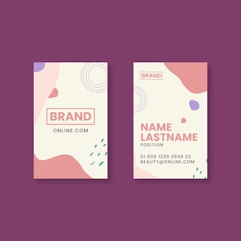 Beauty saloon double sided business card