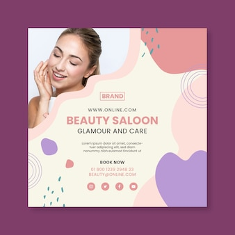 Beauty saloon flyer square