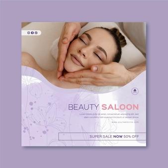 Beauty saloon flyer template