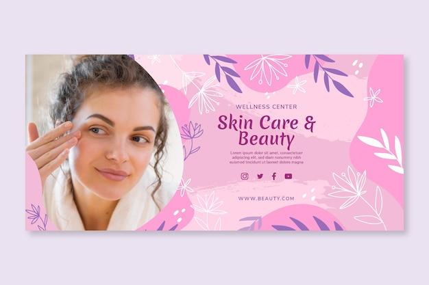 Beauty saloon horizontal banner template