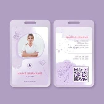 Beauty saloon id card template