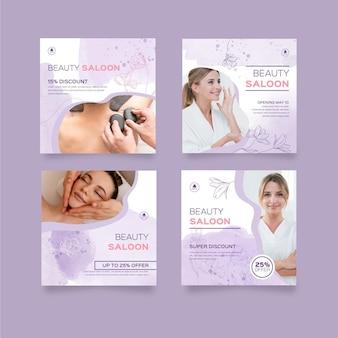 Beauty saloon instagram post templates