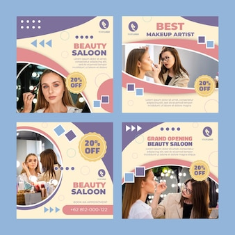 Beauty saloon instagram posts