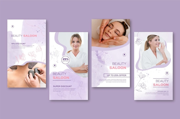 Beauty saloon instagram story templates