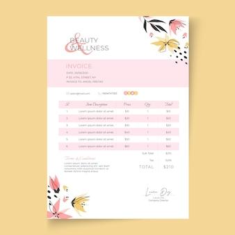 Beauty saloon invoice template