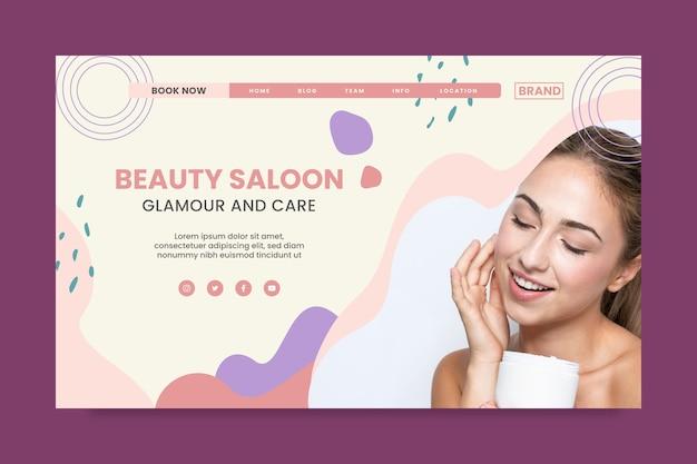 Beauty saloon landing page